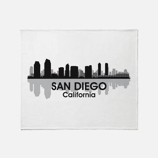San Diego Skyline Throw Blanket
