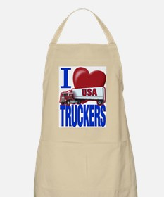 """I Love Truckers"" BBQ Apron"
