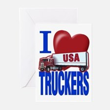 """I Love Truckers"" Greeting Cards (Pk of 10)"
