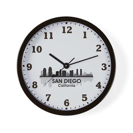 San Diego Skyline Wall Clock