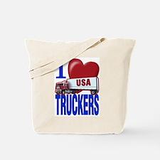 """I Love Truckers"" Tote Bag"