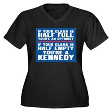 You're a Kennedy Women's Plus Size V-Neck Dark T-S