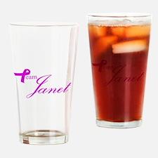 Team Janet Drinking Glass