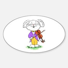 mouse with violin - Oval Decal