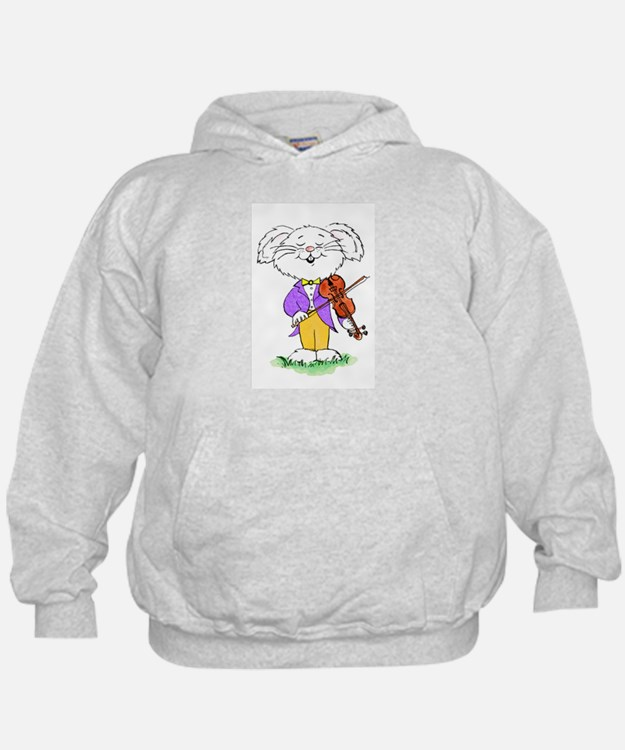 mouse with violin - Hoodie