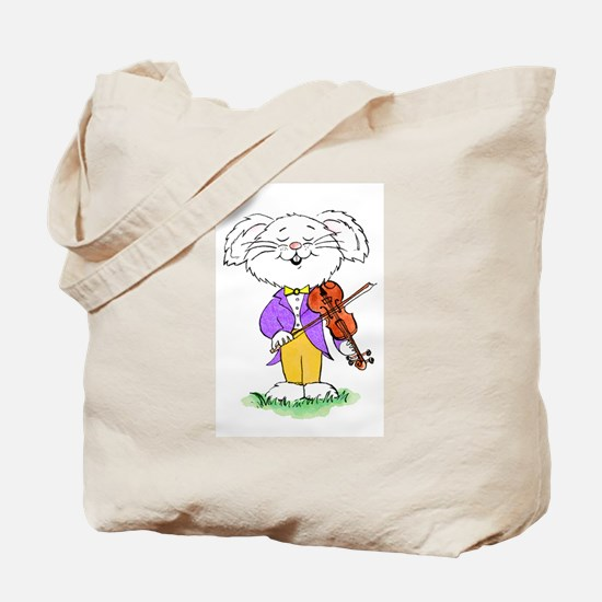mouse with violin - Tote Bag