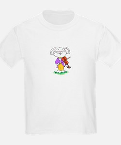 mouse with violin - Kids T-Shirt