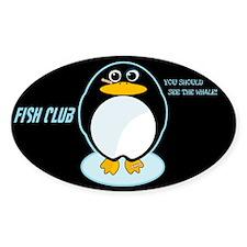FISH CLUB Oval Decal