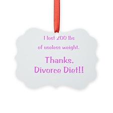 Divorce Diet Ornament