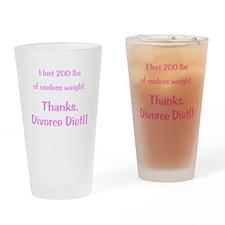 Divorce Diet Drinking Glass