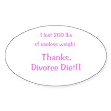 Divorce Diet Decal