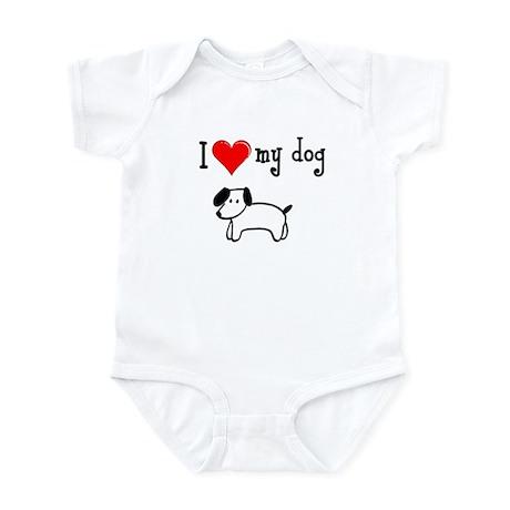 Love my dog Infant Creeper