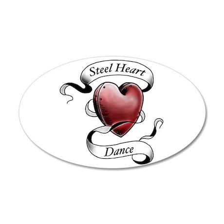 Steel Heart Dance logo 35x21 Oval Wall Decal