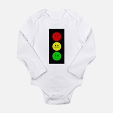 Moody Stoplight Long Sleeve Infant Bodysuit