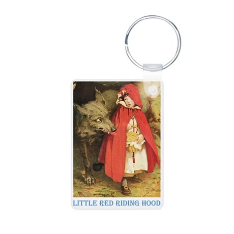 Little Red Riding Hood Aluminum Photo Keychain