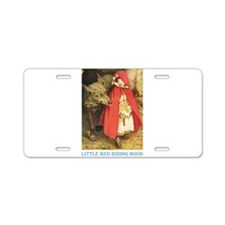 Little Red Riding Hood Aluminum License Plate