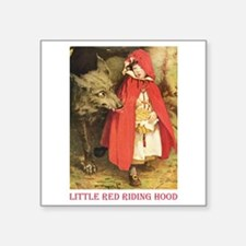 "Little Red Riding Hood Square Sticker 3"" x 3"""