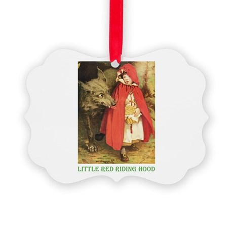Little Red Riding Hood Picture Ornament