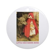 Little Red Riding Hood Ornament (Round)
