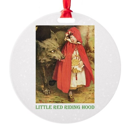 Little Red Riding Hood Round Ornament