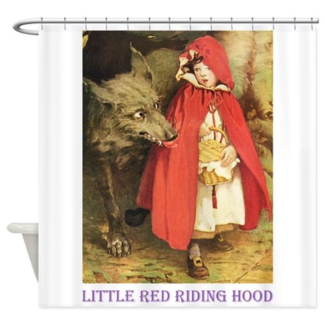 Little Red Riding Hood Shower Curtain By Fairy Tales