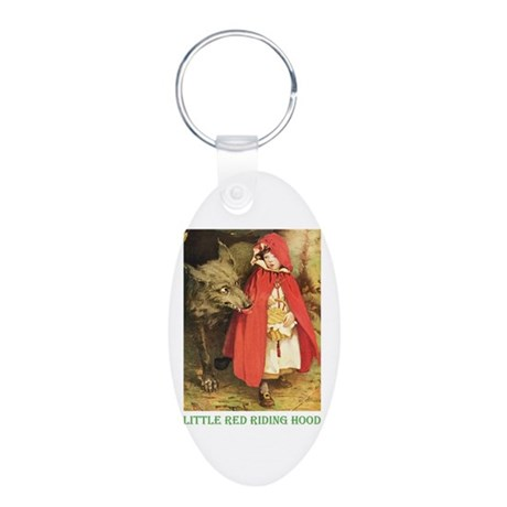 Little Red Riding Hood Aluminum Oval Keychain