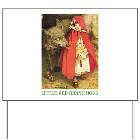 Little Red Riding Hood Yard Sign