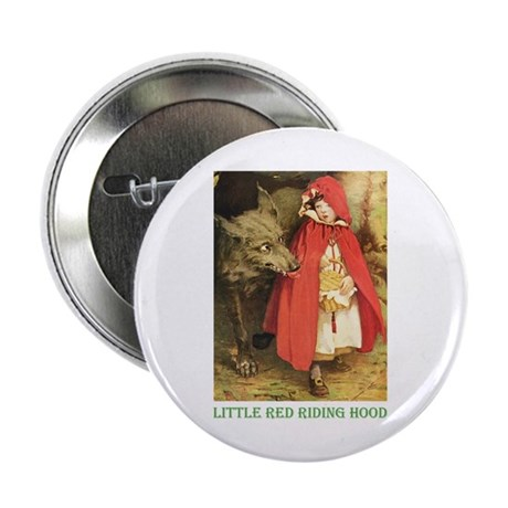 """Little Red Riding Hood 2.25"""" Button (10 pack)"""