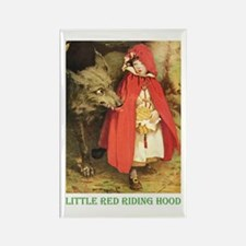 Little Red Riding Hood Rectangle Magnet