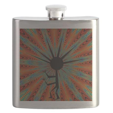 Spiral Kokopelli Flask