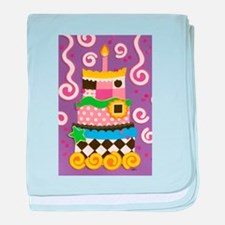 Clown Cake baby blanket