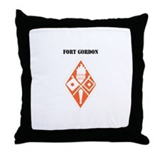 Fort Gordon with Text Throw Pillow
