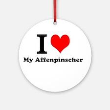 I Love My Affenpinscher Ornament (Round)