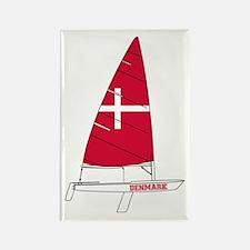 Denmark Dinghy Sailing Rectangle Magnet
