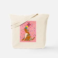Pinwheel Puppy Tote Bag