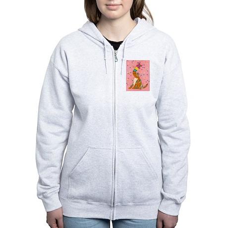 Pinwheel Puppy Women's Zip Hoodie