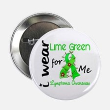 "I Wear Lime 43 Lymphoma 2.25"" Button"