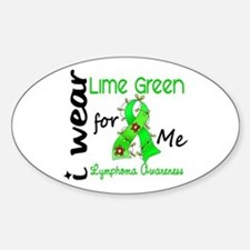 I Wear Lime 43 Lymphoma Decal