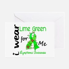 I Wear Lime 43 Lymphoma Greeting Card