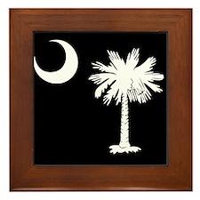 SC Palmetto Moon Framed Tile