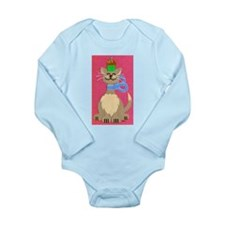 Cat with Sprinkles Cupcake Long Sleeve Infant Body
