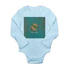 Vintage Oklahoma Flag Long Sleeve Infant Bodysuit