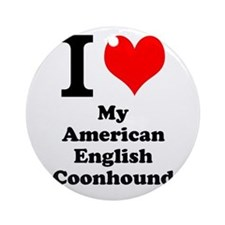 I Love My American English Coonhound Ornament (Rou