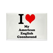 I Love My American English Coonhound Rectangle Mag