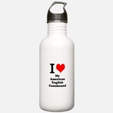 I Love My American English Coonhound Water Bottle