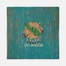 Vintage Oklahoma Flag Queen Duvet