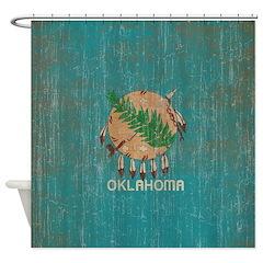 Vintage Oklahoma Flag Shower Curtain