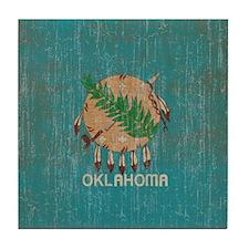 Vintage Oklahoma Flag Tile Coaster