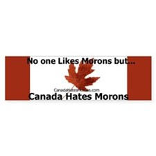 """No Morons"" Bumper Bumper Sticker"