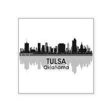 """Tulsa Skyline Square Sticker 3"""" x 3"""""""